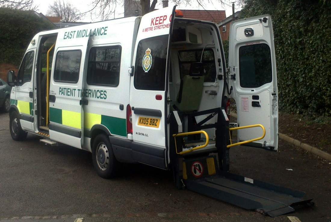 Information donated by the east midlands ambulance service this ambulance celebrates 65 years of patient transport services in the east midlands